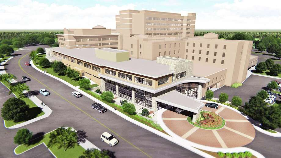 North Central Baptist Hospital is adding a $50 million orthopedic facility. The building will be three stories tall and will have a new hospital entrance off Madison Oak Drive. Photo: Courtesy Illustration