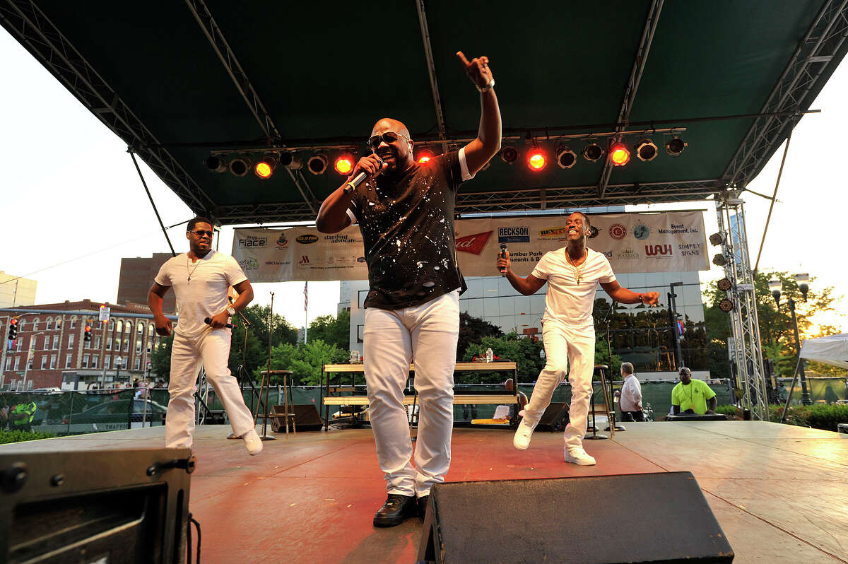 Boyz II Men performs during the Alive@Five concert series at Columbus Park in Stamford, Conn., on Thursday, July 16, 2015. Concerts begin at 5 p.m. and run through Thursday, August 13. The headlining act for next week is Guster. Hearst Connecticut Media is a sponsor of the event.