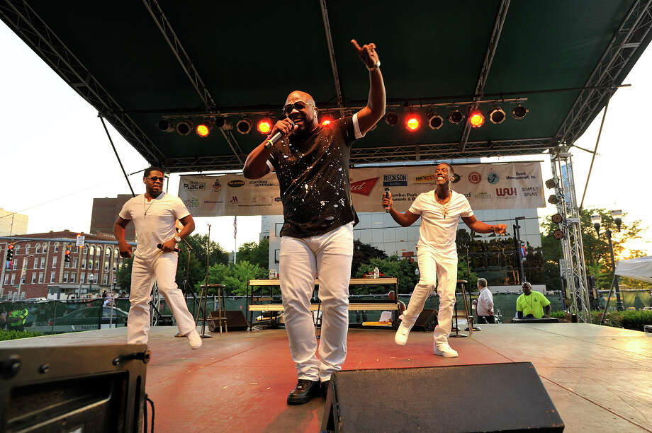 Boyz II Men performs during the Alive@Five concert series at Columbus Park in Stamford, Conn., on Thursday, July 16, 2015. Concerts begin at 5 p.m. and run through Thursday, August 13. The headlining act for next week is Guster. Hearst Connecticut Media is a sponsor of the event. Photo: Jason Rearick / Hearst Connecticut Media / Stamford Advocate