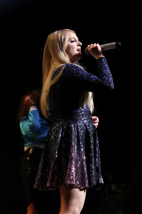 "Grammy-nominated singer Meghan Trainor performs for a packed house at Tobin Center for the Performing Arts on Thursday, July 16, 2015. The 21-year-old pop singer rose to fame when she released the single ""All About That Bass"" in 2014. The music video went viral and the song hit number one on the Billboard Chart that same year. Trainor has since released several songs including, ""Lips Are Movin"" and ""Dear Future Husband"" along with her debut album, ""Title"" by Sony Music Entertainment. Trainor had been touring in her first headline concert tour, That Bass Tour, which started in February. Her concert at the Tobin was promoting her new album with a new tour called the MTrain Tour. Photo: Kin Man Hui /San Antonio Express-News / ©2015 San Antonio Express-News"