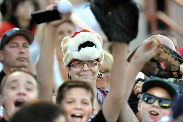 ValleyCats fans show their support during a baseball game against the Lake Monsters on Thursday, July 16, 2015, at Joe Bruno Stadium in Troy, N.Y. (Cindy Schultz / Times Union) Photo: Cindy Schultz / 00032628A