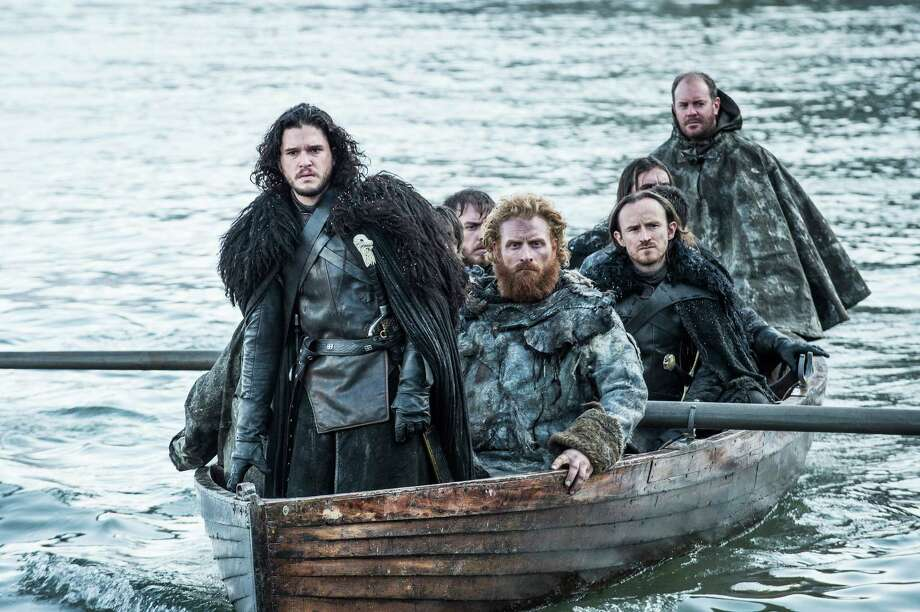"This image released by HBO shows Kit Harington as Jon Snow, left, in a scene from ""Game of Thrones."" The series was nominated for an Emmy Award on Thursday, July 16, 2015, for outstanding drama series. The 67th Annual Primetime Emmy Awards will take place on Sept. 20, 2015. (Helen Sloan/HBO via AP) ORG XMIT: NYET601 Photo: Helen Sloane / HBO"