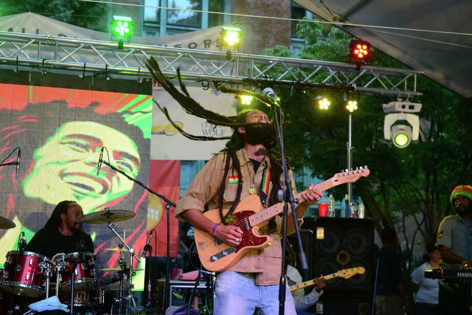 The Downtown Thursdays concert series on McLevy Green in downtown Bridgeport, Conn., on Thursday July 16, 2015. This evening's performances were by The Slammin Band and headlining were The Wailers. Photo: Christian Abraham / Hearst Connecticut Media / Connecticut Post