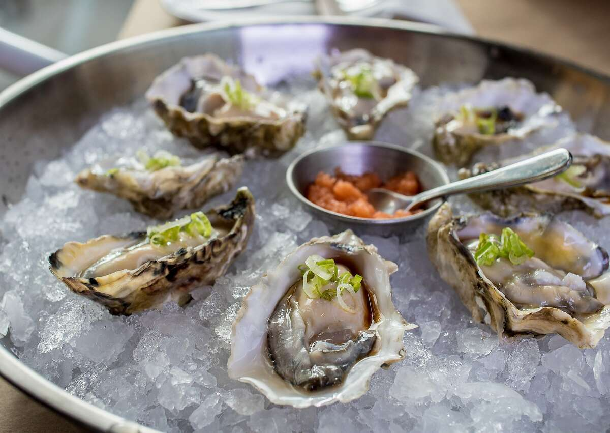 A platter of Oysters at Ichi Kakiya in San Francisco, Calif., is seen on July 16th, 2015.
