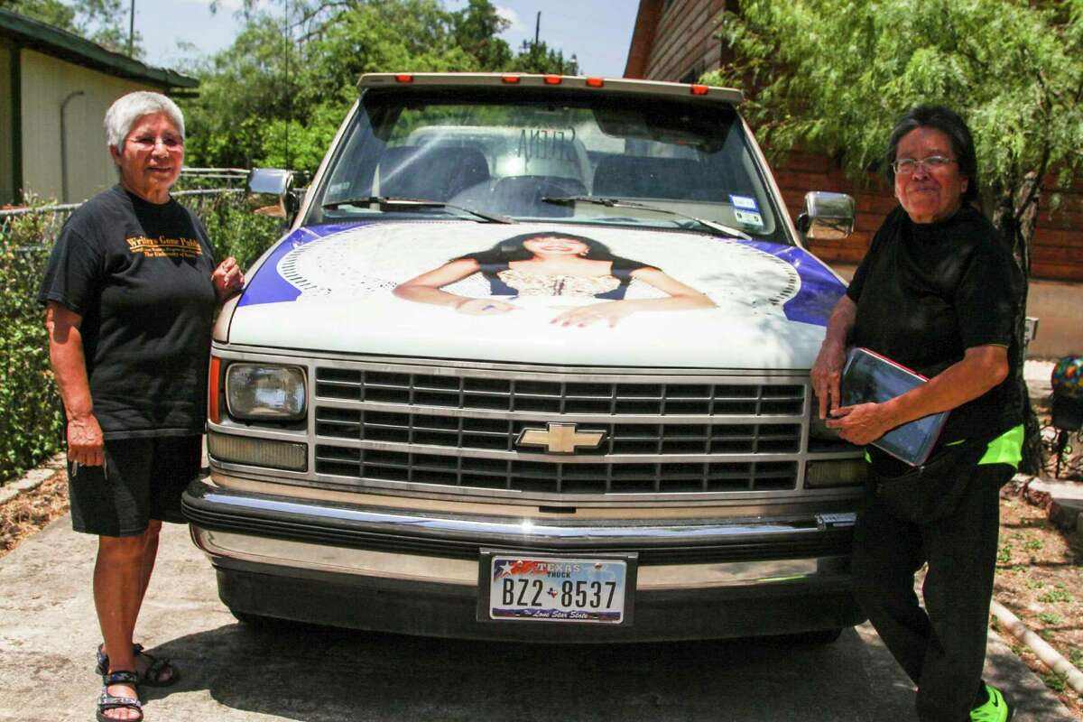 The Selena pickup has been seen across town. Each side of the pickup has artwork of the Tejano singer honoring her memory.