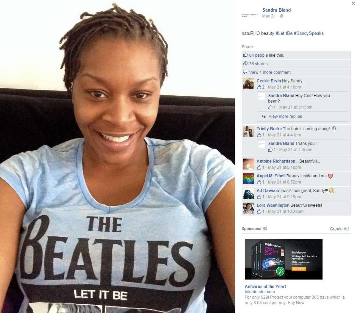 1.Who was Sandra Bland? Bland was a 28-year-old woman from Naperville, Ill. Bland, an activist, had recently moved to Texas after securing a temporary job at Prairie View A&M University, her alma mater.