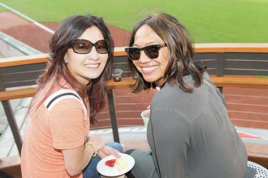 "Jen Najera and Debbie Loughren at the Francis Ford Coppola Winery's ""Diamond on the Diamond"" event at AT&T Park on July 10, 2015. Photo: Drew Altizer Photography / © 2015 Drew Altizer Photography"