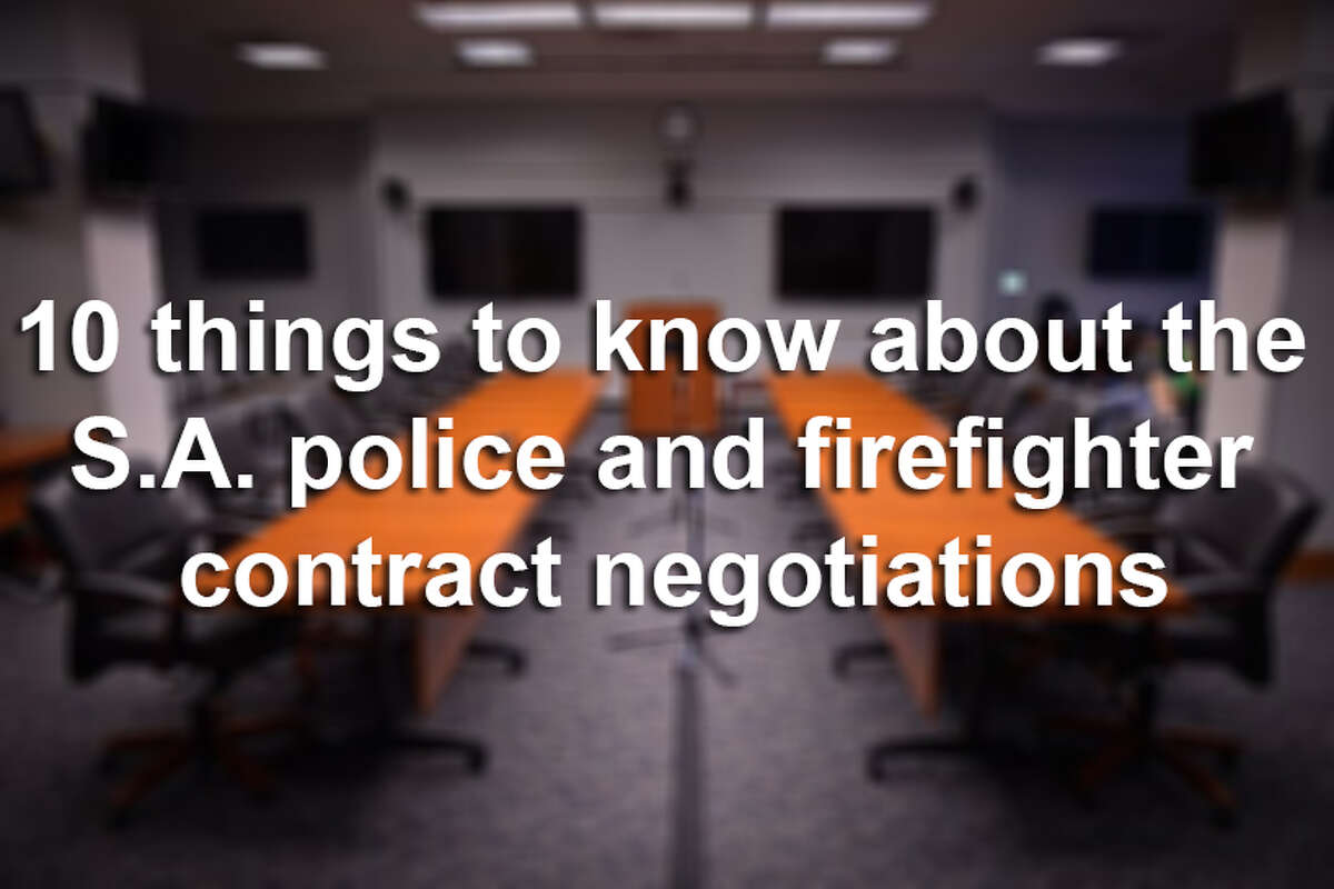 10 things to know about the S.A. police and firefighter contract negotiations.