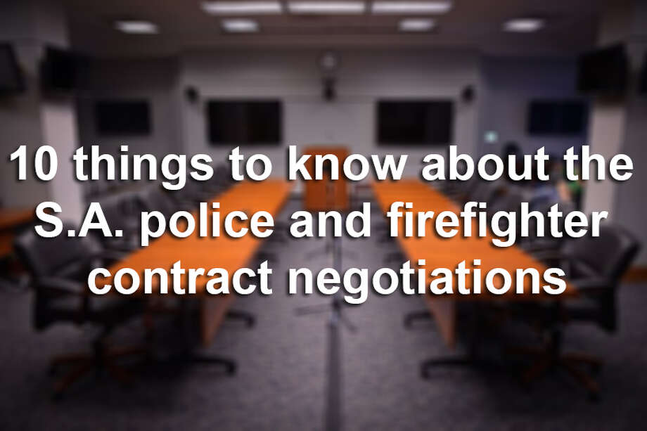 10 things to know about the S.A. police and firefighter contract negotiations. Photo: File Photo