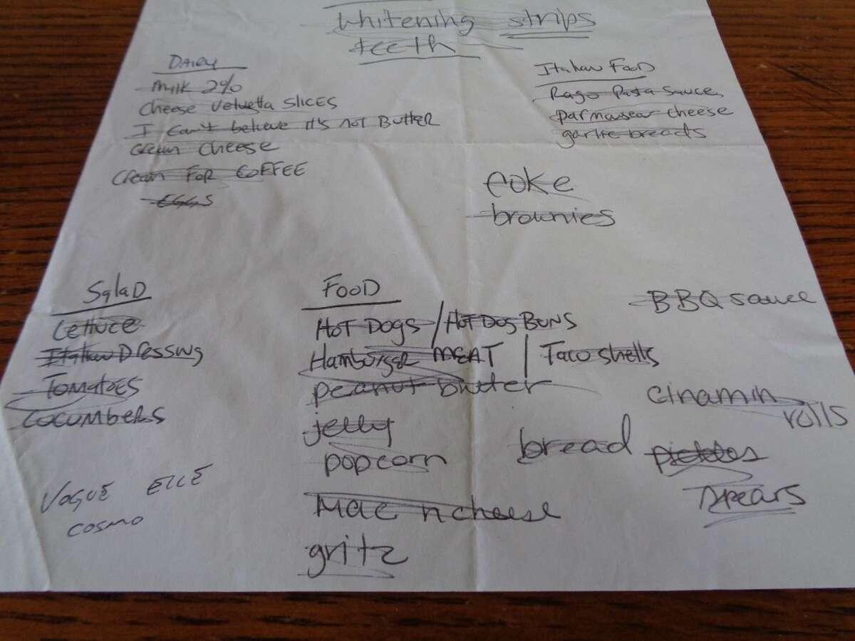 EBay seller rockshopngavel is selling grocery shopping lists allegedly handwritten by pop star Britney Spears.