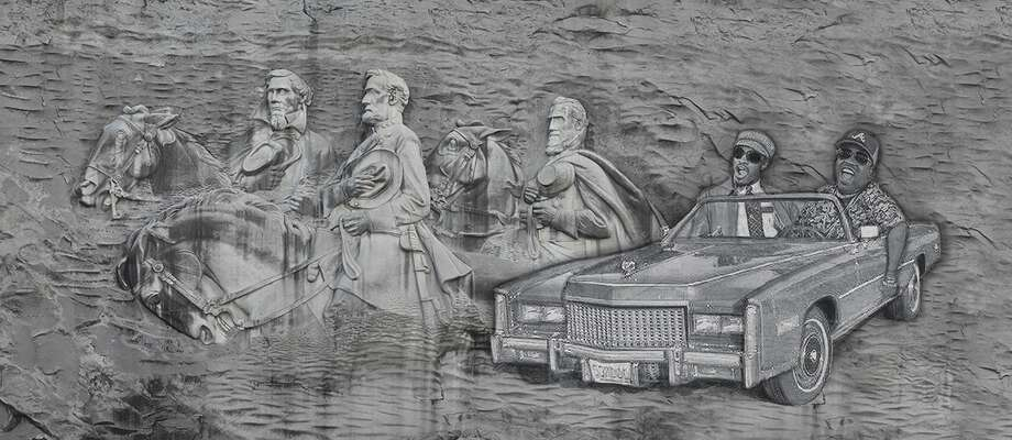 Artist Mack Williams' rendering of his proposed revision of Georgia's Stone Mountain.  Photo: Mack Williams, Courtesy