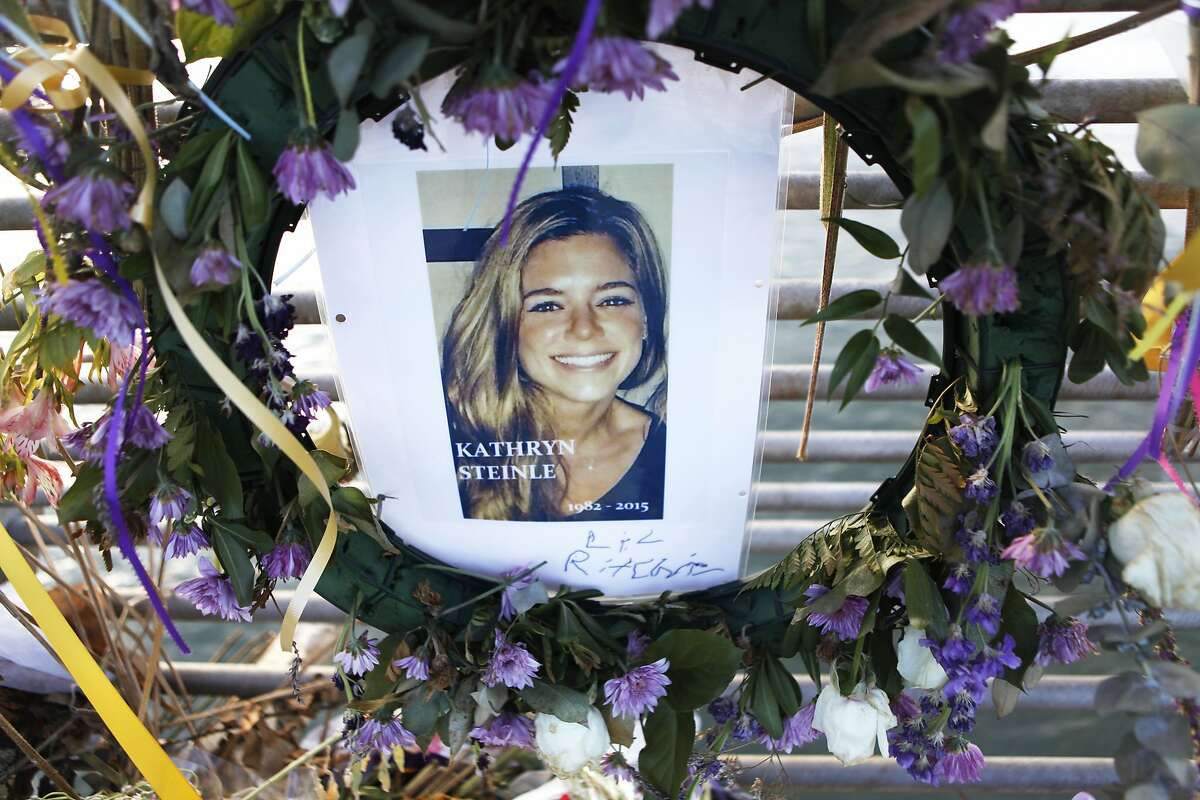 A closeup of the Pier 14 memorial for Kathryn Steinle who was fatally shot by Juan Francisco Lopez-Sanchez on July 1 while walking along the pier with her family.