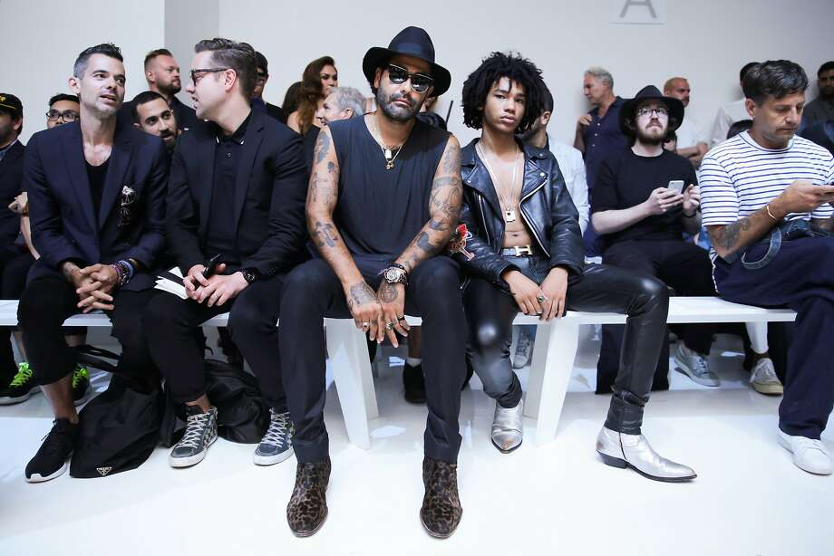 Celebrity attendees at Rochambeau's spring 2016 show included artist Harif Guzman and model Luka Sabbat (pictured, right), MAKONEN, Andre Iguodala and Eric West. The show took place at Skylight Clarkson Square on July 14, 2015. Photo: Firstview