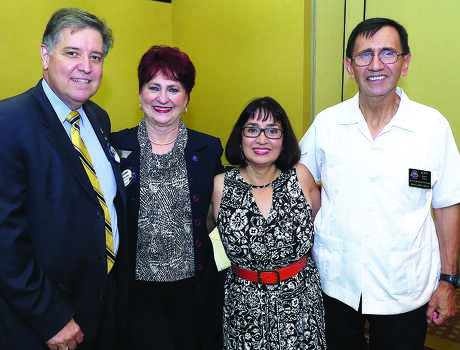 Jorge Gonzalez, Clema Owen, Irma Del Barrio and Juan Lira at the Laredo Gateway Rotary Club meeting. Photo: CUATE SANTOS