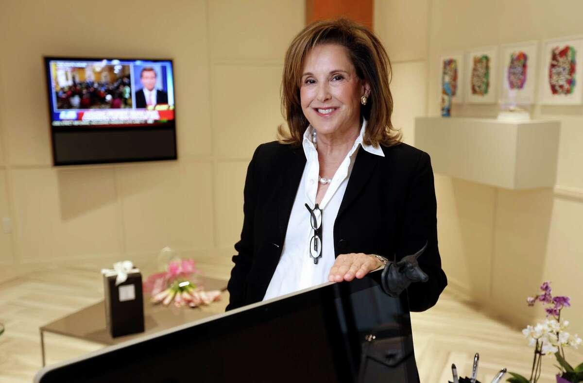 Lynn Lasher, founder of Somebody's Mother's chocolate sauce Wednesday, July 15, 2015, in Houston. ( Gary Coronado / Houston Chronicle )
