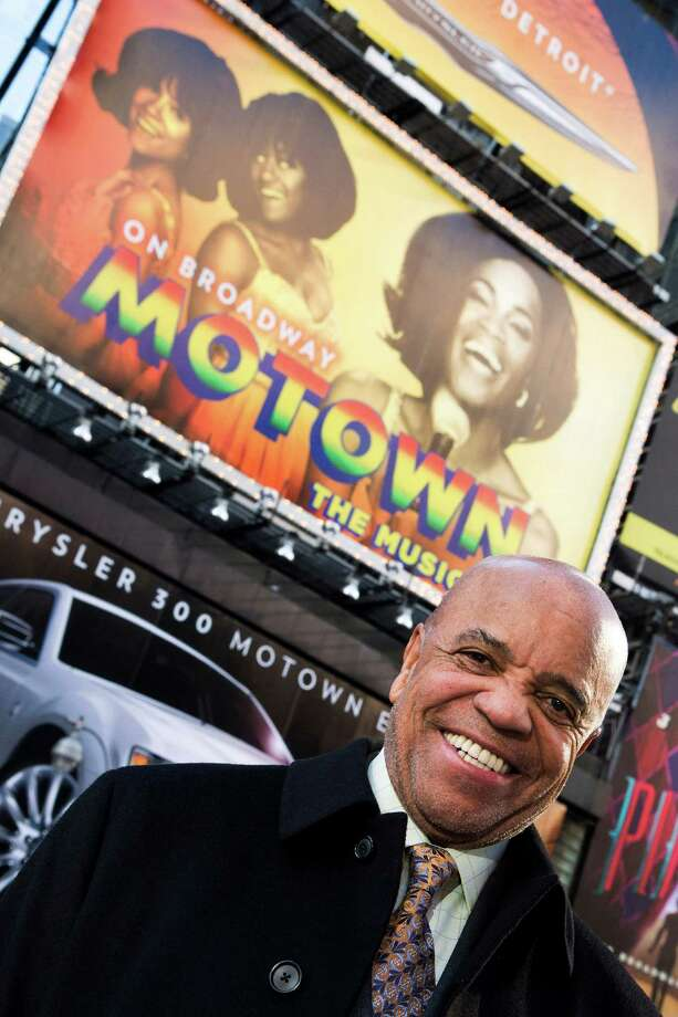 "This March 5, 2013 photo shows Berry Gordy posing for a portrait in Times Square in New York.  For Berry Gordy, conquering Broadway is the next - and by his own admission, last - major milestone of a magical, musical career. The 83-year-old Motown Records founder is taking his story and that of his legendary label to the Great White Way. ""Motown: The Musical,"" opens for previews Monday. (Photo by Charles Sykes/Invision/AP) Photo: Charles Sykes, INVL / Invision"