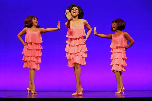 "Krisha Marcano (Florence Ballard), Allison Semmes (Diana Ross) & Trisha Jeffrey (Mary Wilson) in first national tour of  ""Motown The Musical."""