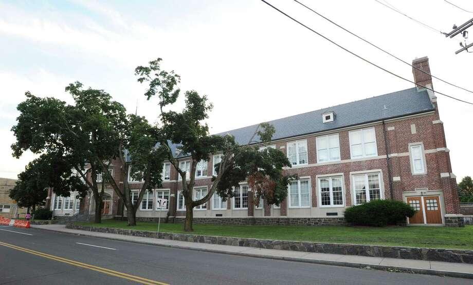 Hamilton Avenue School turned 100 this year. Photo: Bob Luckey / Bob Luckey / Greenwich Time