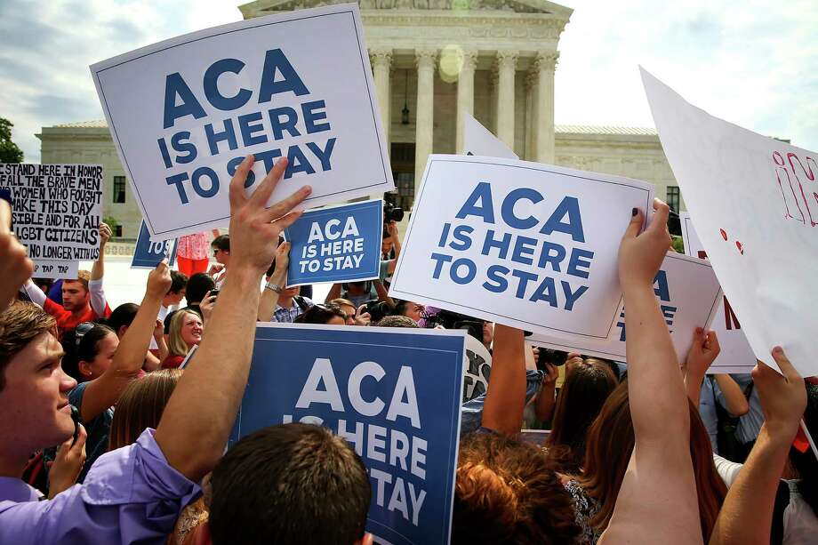 Demonstrators celebrate the U.S. Supreme Court's decision in June upholding the Affordable Care Act's federal subsidies. But now many insurers are seeking hefty rate increases, which means consumers may have to seek new plans to meet their budgets. Photo: DOUG MILLS, STF / NYTNS