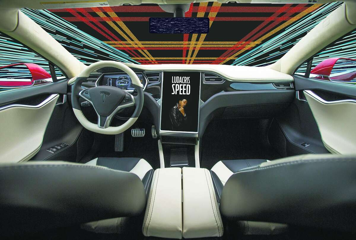 The interior of a Saleen Automotive Inc. Tesla Motors Inc. Foursixteen automobile is displayed during the 2014 Pebble Beach Concours d'Elegance in Pebble Beach, California, U.S., on Saturday, Aug. 16, 2014. The annual event, now in its 64th year, raised a record $301.9 million in 2013, the highest total for a series of classic car auctions anywhere in the world. Photographer: David Paul Morris/Bloomberg
