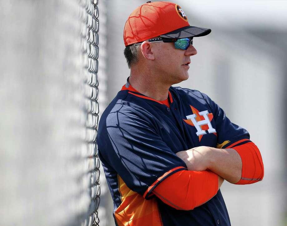 Astros manager A.J. Hinch Photo: Karen Warren, Houston Chronicle / © 2015 Houston Chronicle