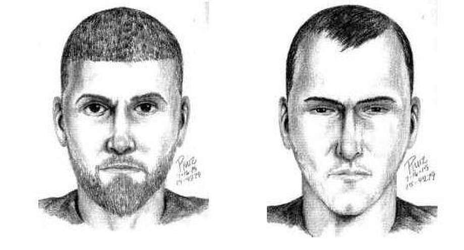Sketches of two of the three suspects in a Palo Alto stabbing that police are investigating as a hate crime. Photo: Courtesy Of Palo Alto PD