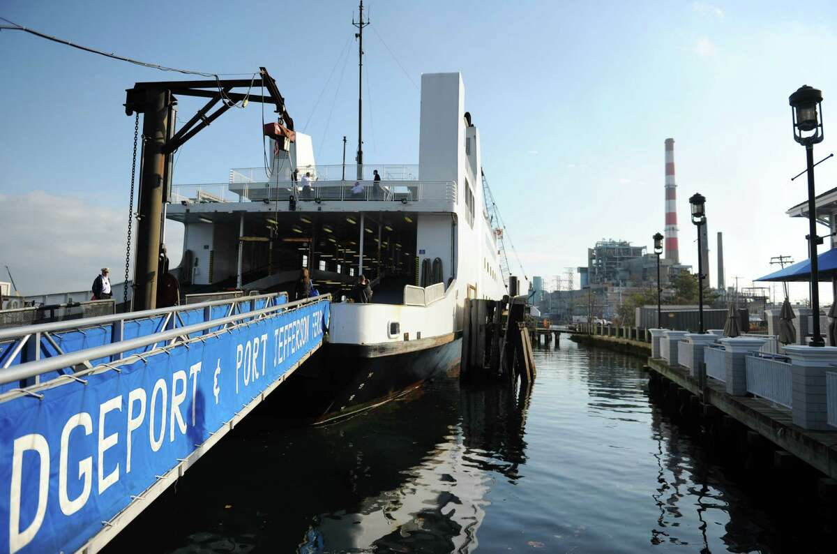 The loading dock of the Bridgeport-Port Jefferson Ferry in Bridgeport is shown above. It's about an hour ferry ride across Long Island Sound from picturesque Port Jefferson, N.Y.