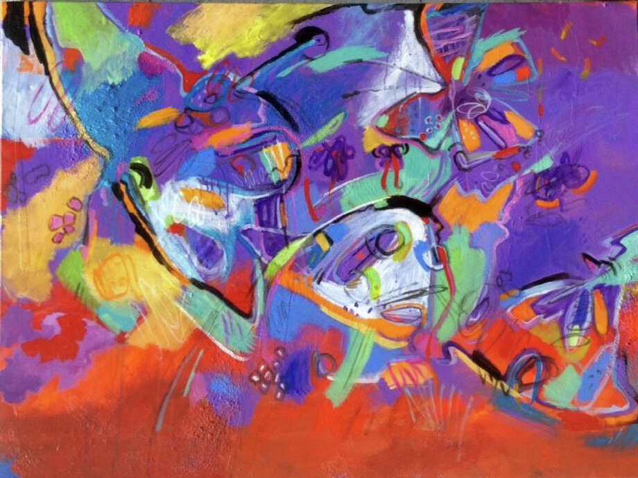 """Susan Frey of the Loft Artists Association will have a new painting, """"Wings,"""" in the all-member show """"Peak Season"""" that opens in Stamford July 31. Photo: Contributed Photo / Connecticut Post Contributed"""
