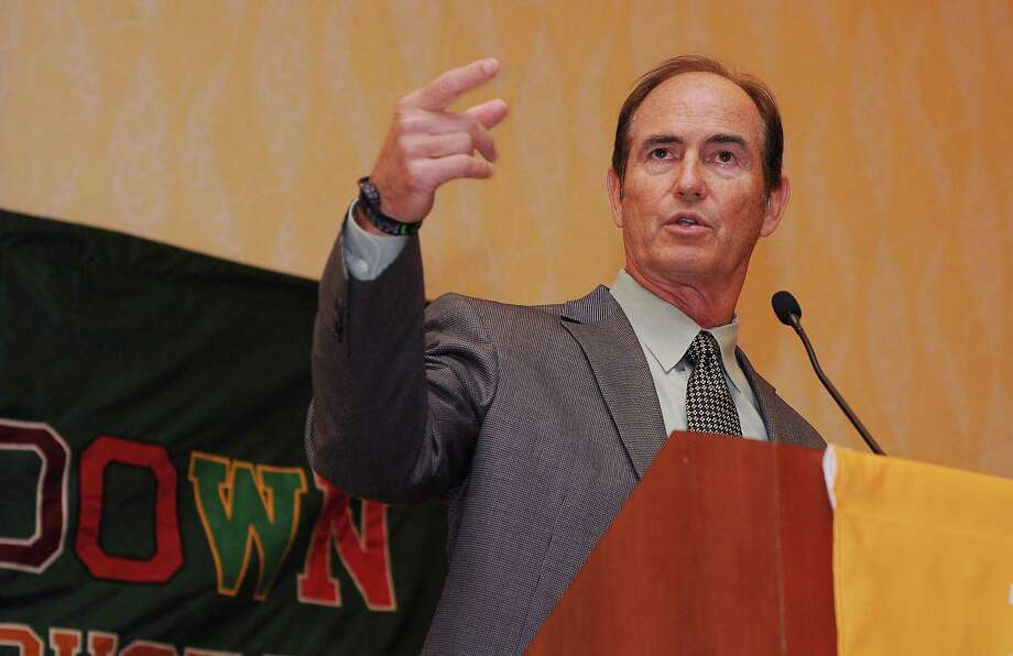 Baylor coach Art Briles didn't mince words during a Friday stopover in Houston, explaining his distaste for out-of-state coaches conducting camps in Texas. Photo: Dave Rossman, Freelance / Freelalnce