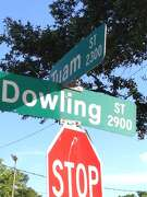 Dowling Street in  Houston's Third Ward was named to honor a Confederate War hero.