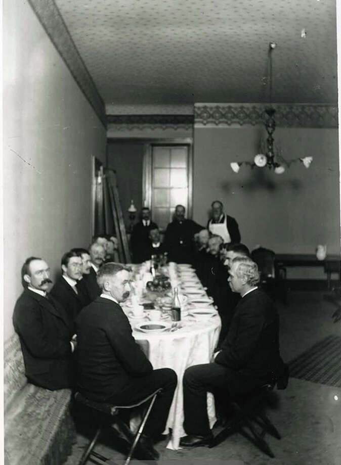Lunch is served at the Masonic Temple sometime around 1890. Photo: Greenwich Public Library / Contributed Photo