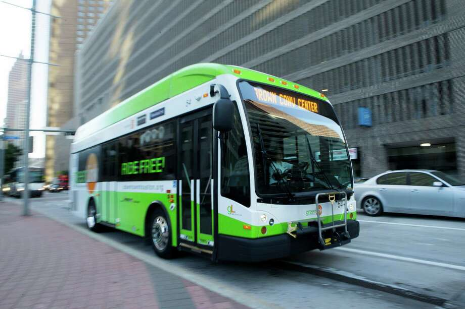 Shuttle services like GreenLink are making a comeback as Houston develops commercially.  Photo: Cody Duty, Staff / © 2015 Houston Chronicle