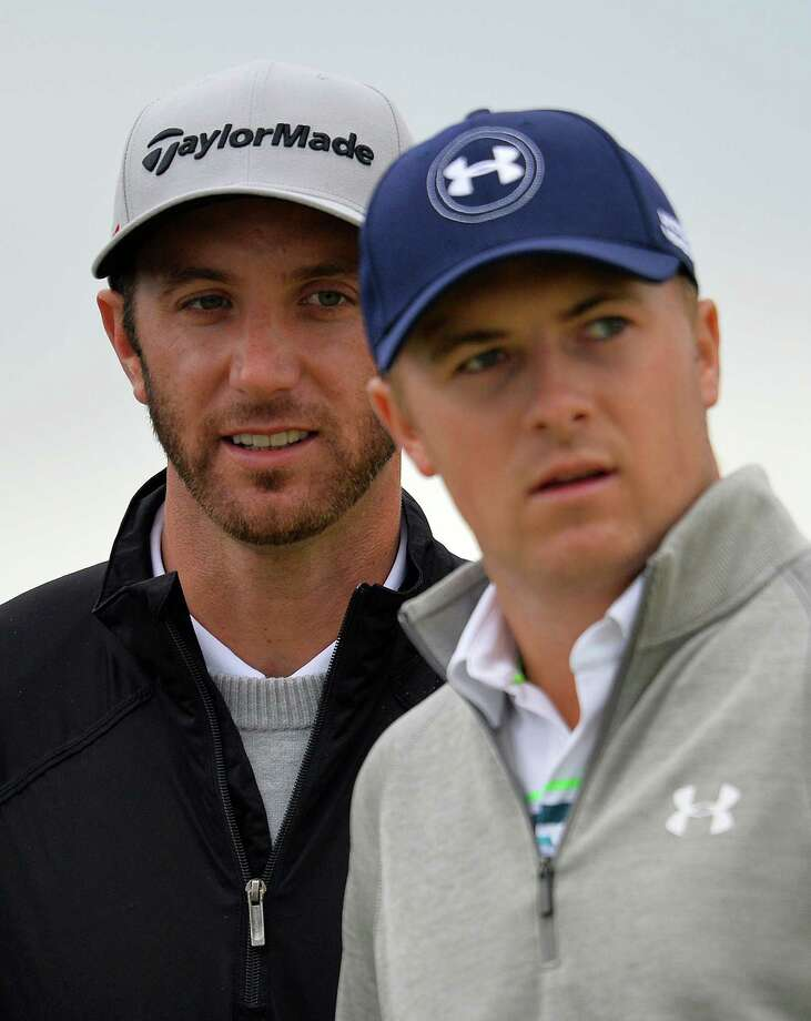 Dustin Johnson, left, leads  Jordan Spieth by five shots. Photo: GLYN KIRK, Stringer / AFP