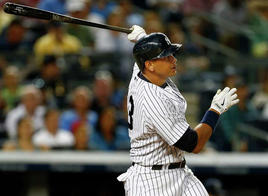 NEW YORK, NY - JULY 17: Alex Rodriguez #13 of the New York Yankees hits a home run in the seventh inning against the Seattle Mariners during a MLB baseball game at Yankee Stadium on July 17, 2015 in the Bronx borough of New York City. (Photo by Rich Schultz/Getty Images) ORG XMIT: 538586701 Photo: Rich Schultz / 2015 Getty Images