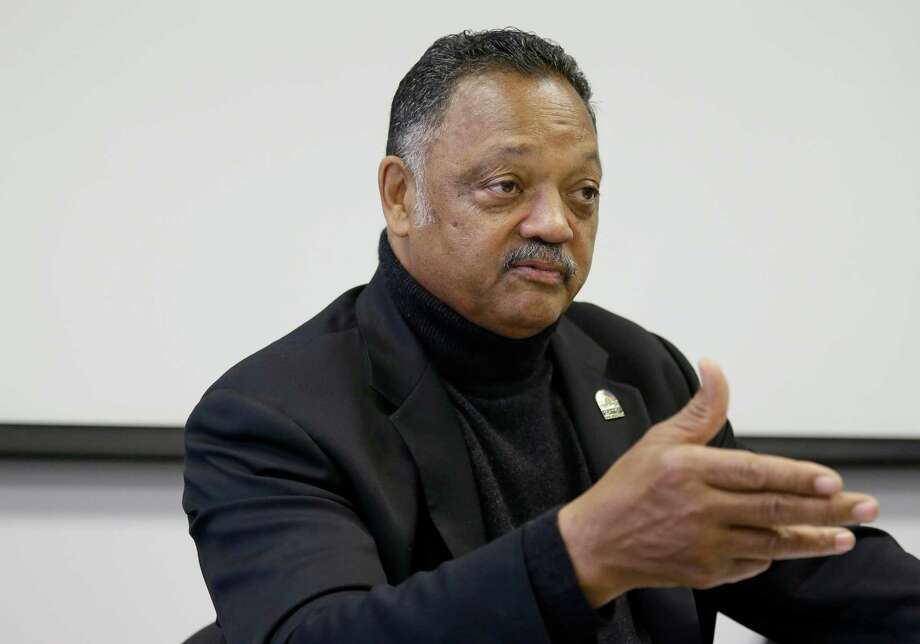 In this photo taken Monday, Dec. 8, 2014, Rev. Jesse Jackson gestures during an interview in San Francisco. Now that Jackson and, his group, Rainbow Push, have gotten the technology industry's biggest companies to confront an embarrassing shortage of women, African-Americans and Hispanics on their payrolls, he is stepping up the pressure to come up with solutions at workshop to be held Wednesday in Silicon Valley. (AP Photo/Eric Risberg) Photo: Eric Risberg, STF / AP