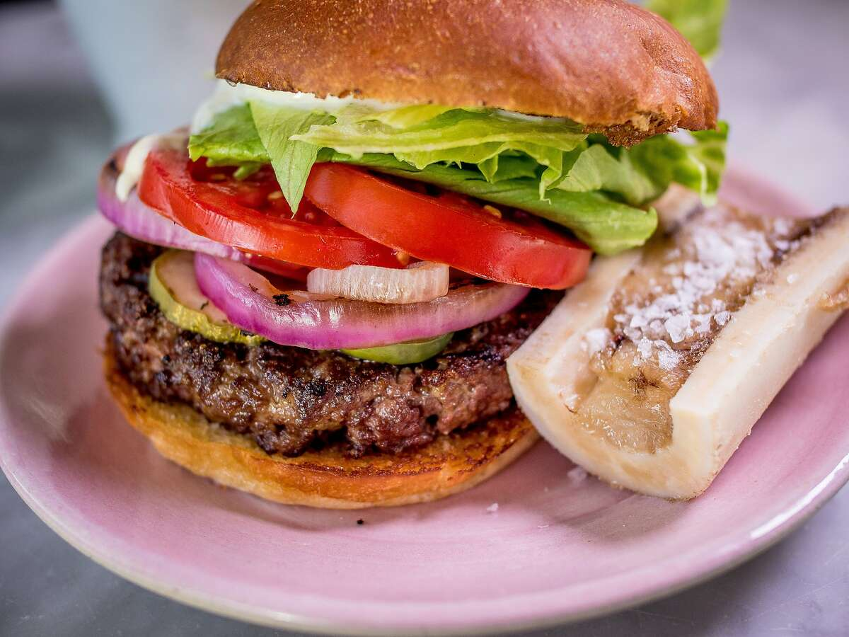 The Kronnerburger with bone marrow at Kronnerburger in Oakland, Calif., is seen on July 17th, 2015.