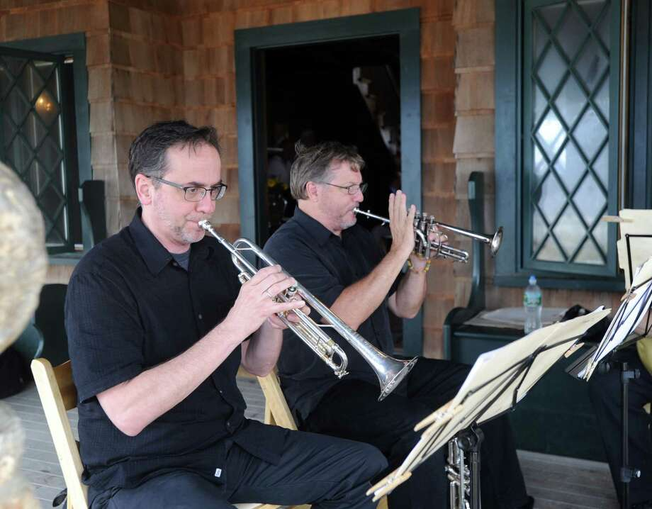The Greenwich Symphony Brass Quintet performed during the Founder's Day Celebration, commemorating the 375th anniversary of Greenwich at Innis Arden Cottage, Greenwich Point, Conn., Saturday morning, July 18, 2015. Photo: Bob Luckey Jr. / Hearst Connecticut Media / Greenwich Time
