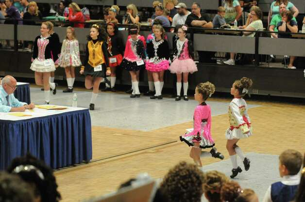 Irish dancers compete in the 27th Annual Governor Thomas Dongan Feis at the Empire State Plaza on Saturday July 18, 2015 in Albany, N.Y. (Michael P. Farrell/Times Union) Photo: Michael P. Farrell / 00032324A
