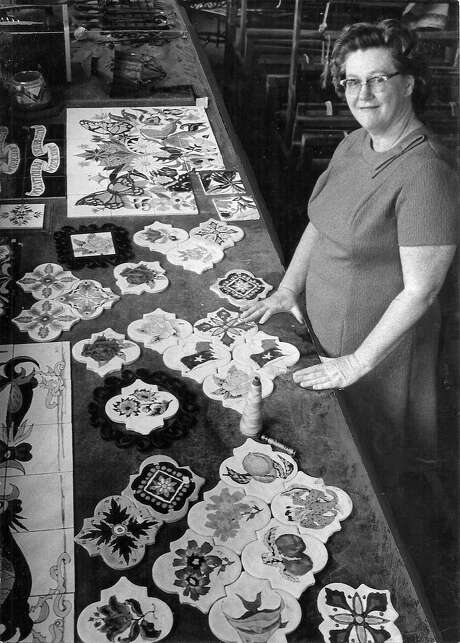 Artist Jean Libert Gehrke's tiles decorate public spaces and private homes. The lifelong South Side resident died in 1998. Photo: Courtesy Photo /Jennifer Strauch