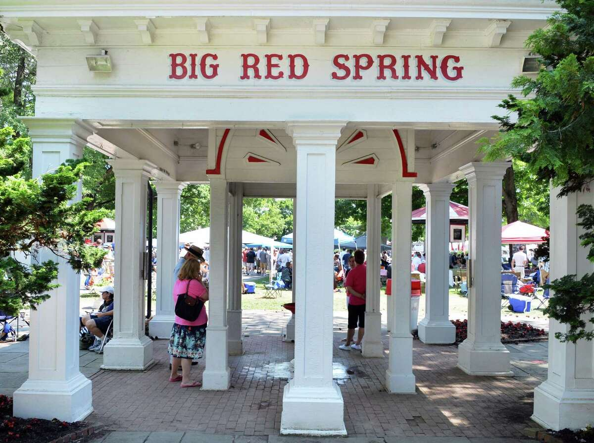 2: The Big Red Spring. If mineral water is your thing, take a walk out there to take a free sample. Never did acquire a taste for it. Some say you'll live forever if you guzzle it. I'll take my chances without it.