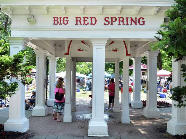 Big Red Spring on opening day at Saratoga Race Course Saratoga Springs, NY, Friday July 19, 2013.  (John Carl D'Annibale / Times Union) Photo: John Carl D'Annibale / 10023139A