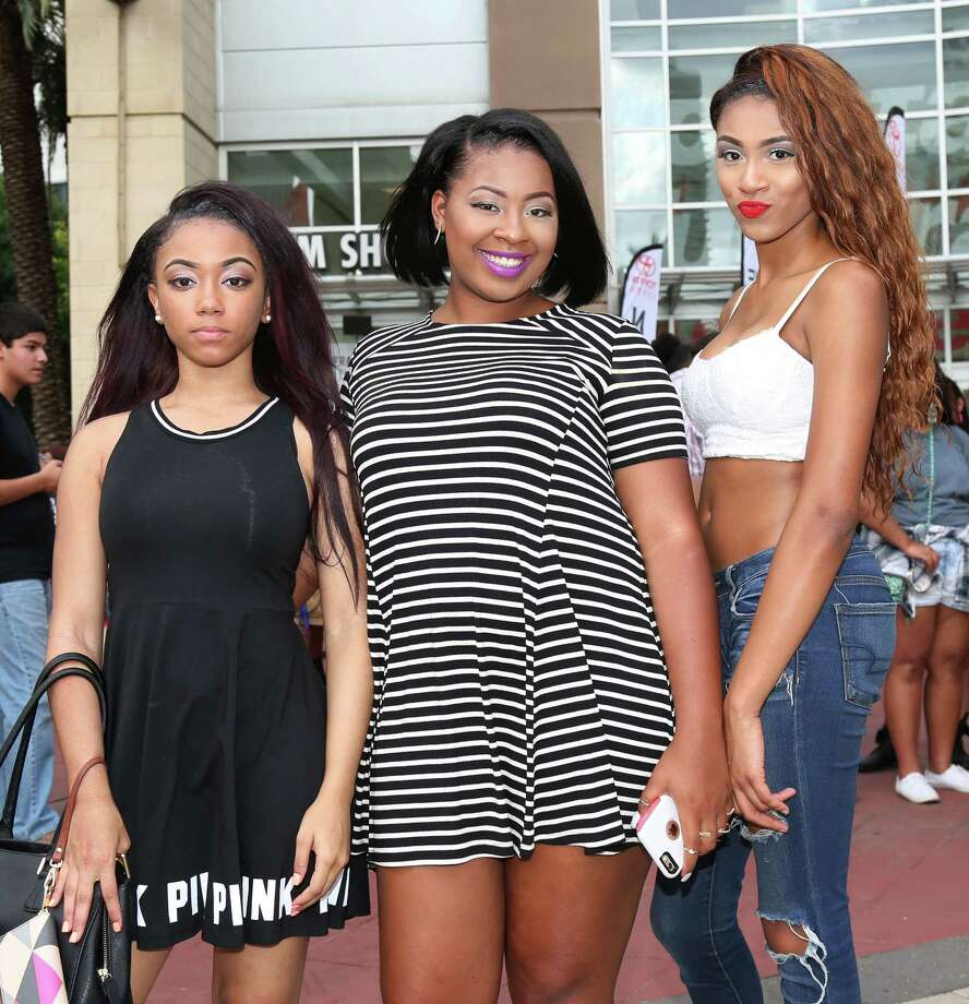 Fans pose for a photo before the Nicki Minaj concert at the Toyota Center Saturday, July 18, 2015, in Houston. Photo: Jon Shapley, Houston Chronicle / © 2015 Houston Chronicle