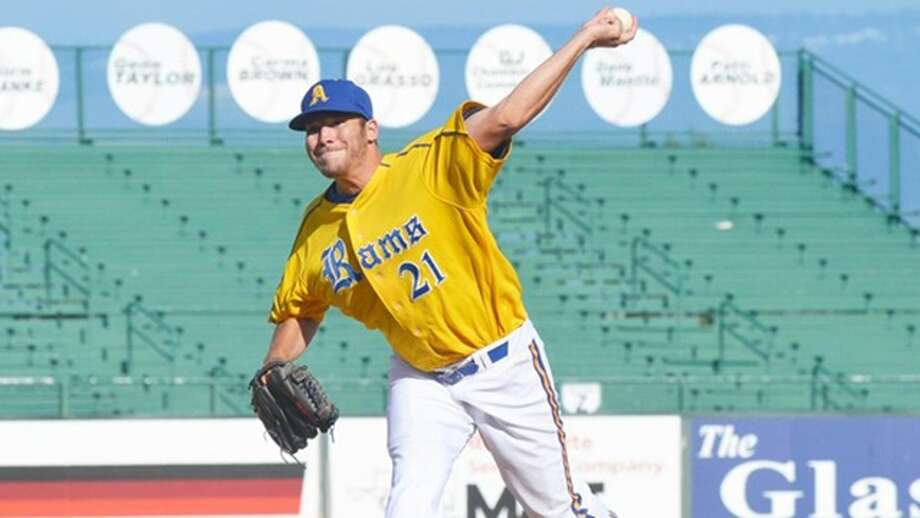 Lefthander Steve Naemark, here pitching for Angelo State, has posted a 1.35 ERA after appearing in five games for the Class A Tri-City Valley Cats.