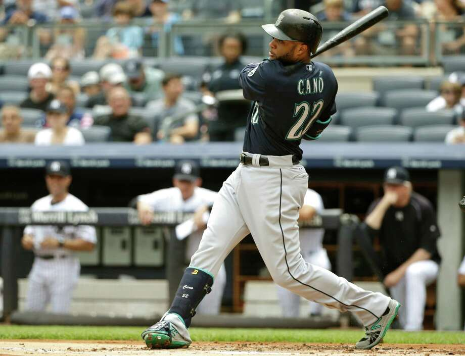 Seattle Mariners' Robinson Cano hits a two run home run during the first inning of a baseball game against the New York Yankees Saturday, July 18, 2015, in New York. (AP Photo/Frank Franklin II) ORG XMIT: NYY105 Photo: Frank Franklin II / AP