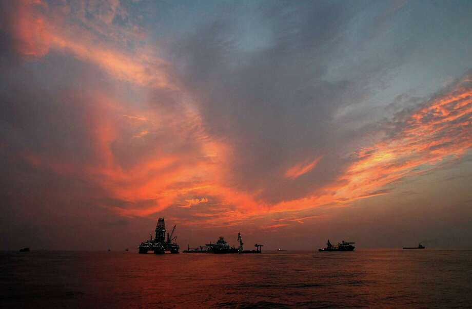 A Deepwater Horizon spill relief well is drilled in 2010 on the Gulf of Mexico near Louisiana. The accident killed 11 workers. Federal officials have defended their well safety and leak efforts. Photo: Patrick Semansky, STF / AP