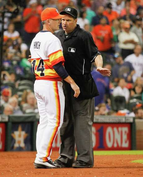 Astros manager A.J. Hinch's exterior may say cool customer, but he can bring the fight, as he showed during Saturday's skirmish with the Rangers. Photo: Bob Levey, Getty Images / 2015 Getty Images