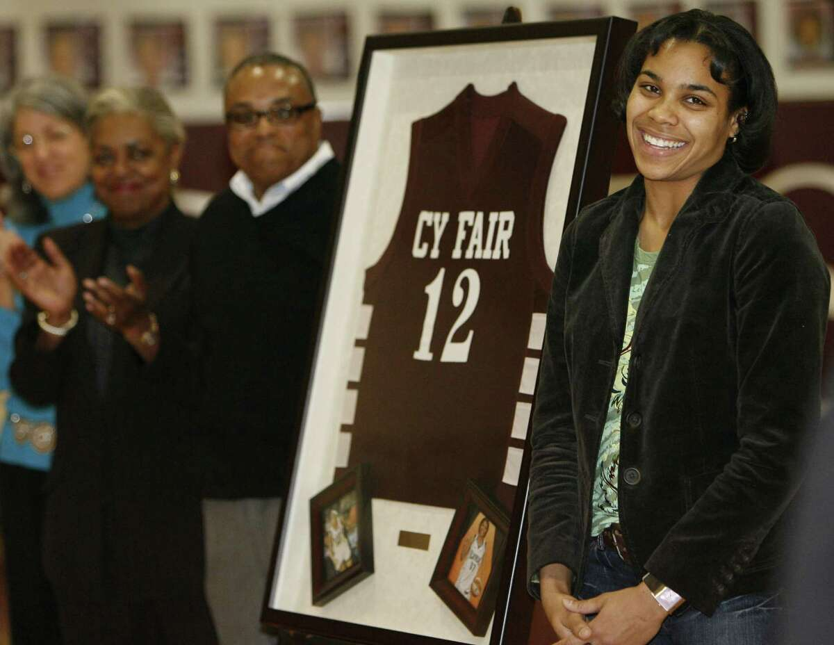 Cy-Fair product and WNBA player Lindsey Harding, right, took a huge step toward a possible career as a coach in the NBA when she joined the Raptors as an assistant coach during the summer.