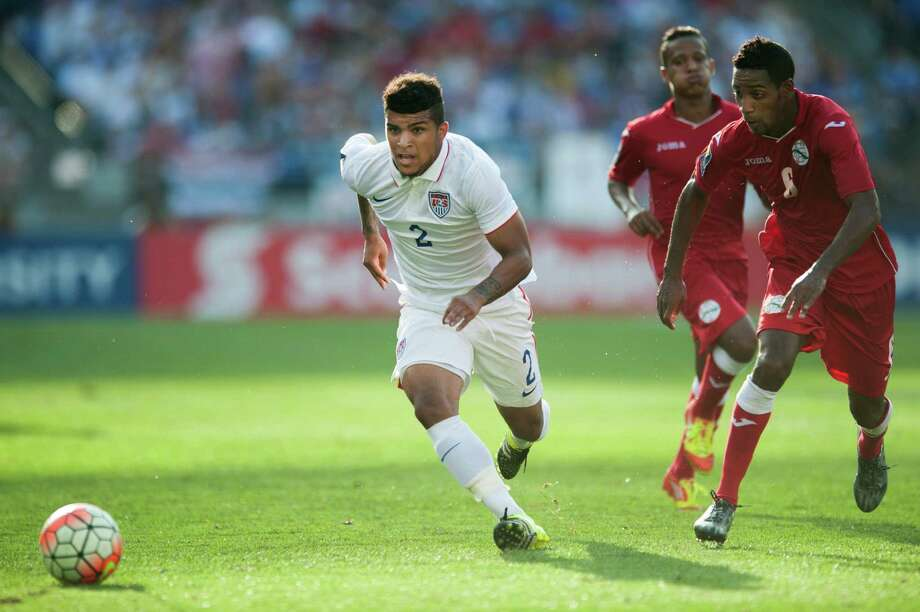 USA's DeAndre Yeldin moves the ball upfield during the 2015 CONCAF Gold Cup quarterfinal match between Cuba and the United States on Saturday, July 18, 2015, at M&T Bank Stadium in Baltimore. (Tom Brenner/Baltimore Sun/TNS) Photo: Tom Brenner, MBR / McClatchy-Tribune News Service / Baltimore Sun