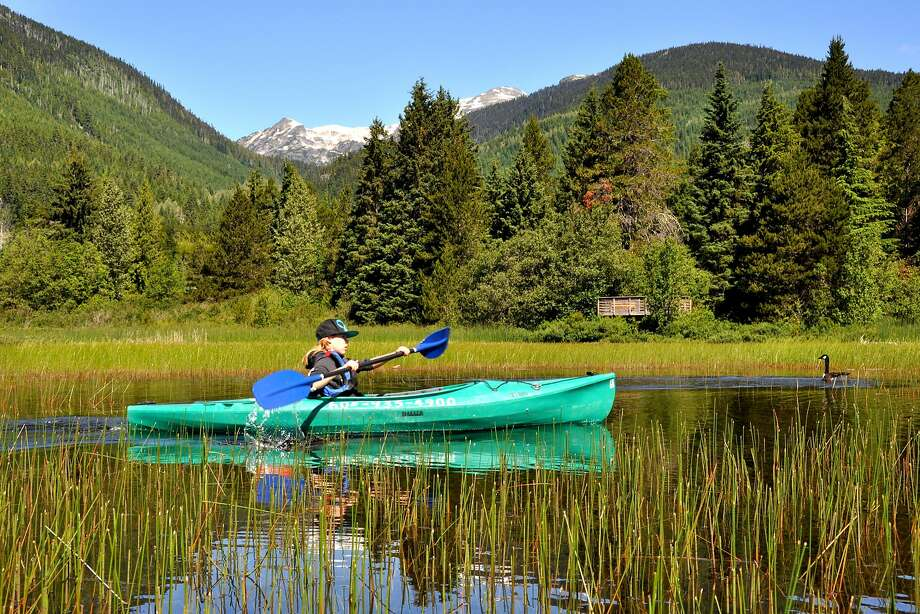 Kayaking the River of Golden Dreams from Alta Lake to Green Lake. Photo: Margo Pfeiff, Special To The Chronicle