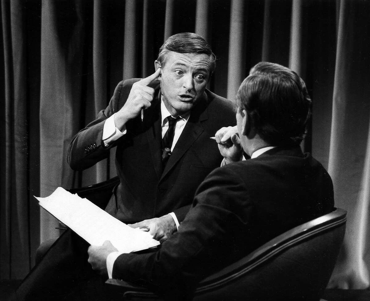 """William F. Buckley Jr. and Gore Vidal debate in """"Best of Enemies,"""" a Magnolia Pictures release opening in Bay Area theaters on Friday, August 7. Photo courtesy of Magnolia Pictures. ABC NEWS - ELECTION COVERAGE 1968 - """"1968 Elections"""" - Airdate November 5, 1968. (Photo by ABC Photo Archives/ABC via Getty Images) WILLIAM BUCKLEY;GORE VIDAL"""